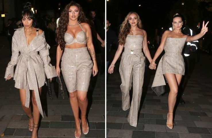 Little Mix Arrive at Album Launch Party in Matching Nude